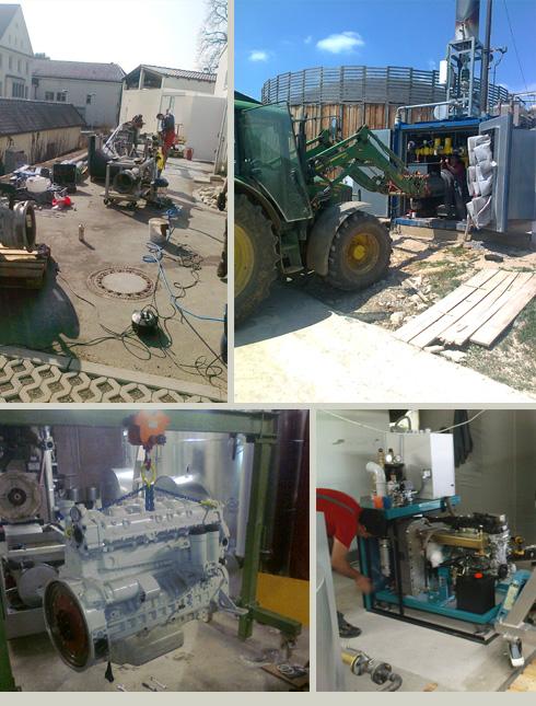 Einbau Blockheizkraftwerk